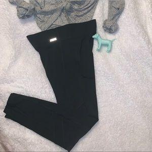 PINK brand black leggings with mesh!!!